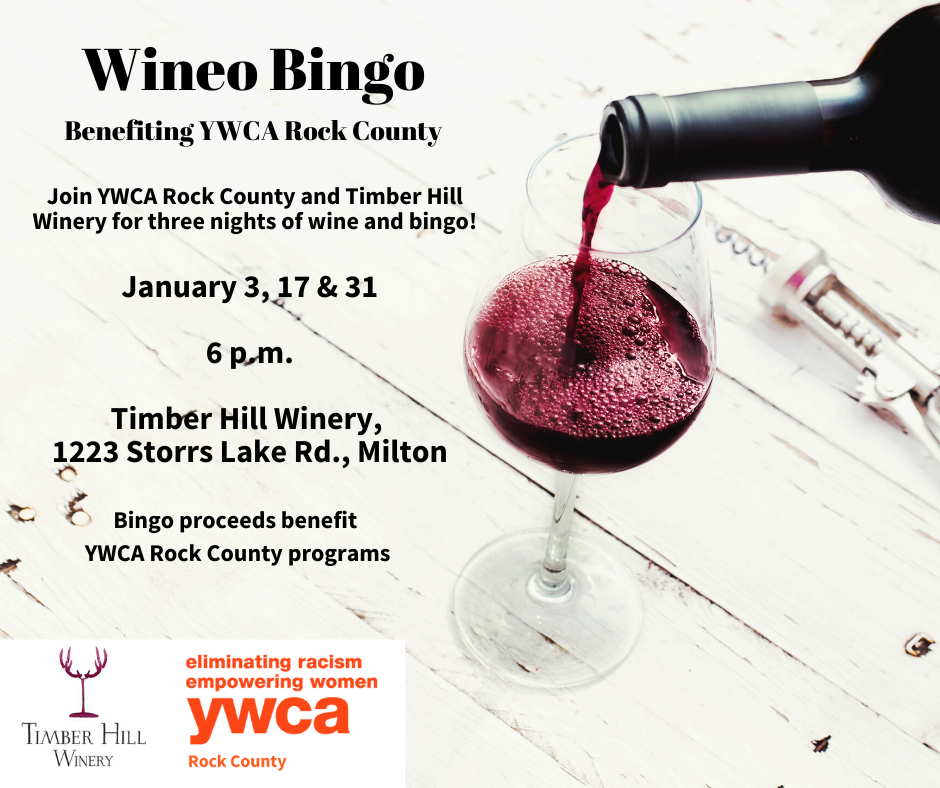 Wineo Bingo Benefiting YWCA Rock County @ Timber Hill Winery